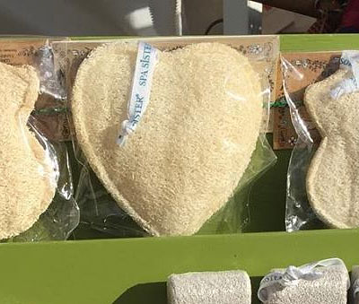 Heart Shaped Loofah Sponge